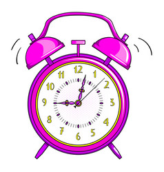 clock alarm on white background isolated vector image