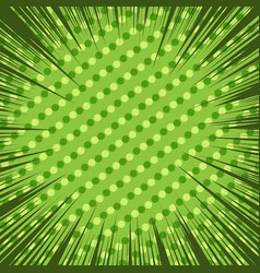 comic green explosive background vector image