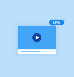 concept live streaming for web page banner vector image