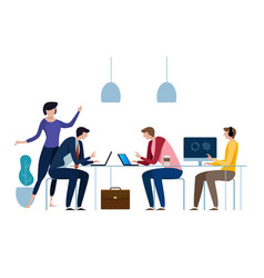 concept of the coworking center business meeting vector image