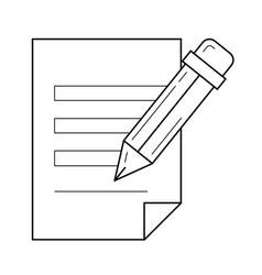 create post line icon vector image