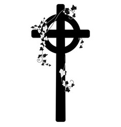 Crucifix and ivy vector
