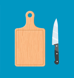 Cutting board and knife icon vector