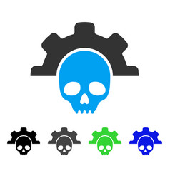 Dead tools flat icon vector
