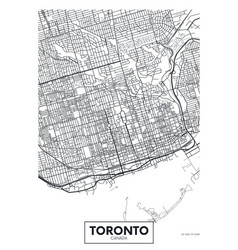 Detailed poster city map toronto vector