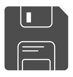 Diskette solid icon memory vector
