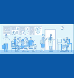 doctor waiting room doctor waiting room people vector image