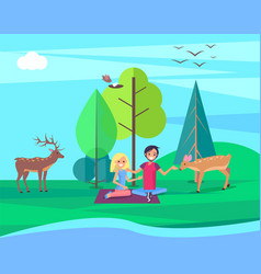 environment day people forest vector image