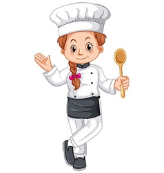 Female chef in uniform vector