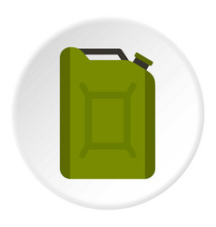 Flask for gasoline icon circle vector