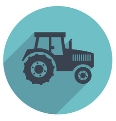 Flat icon of a tractor vector