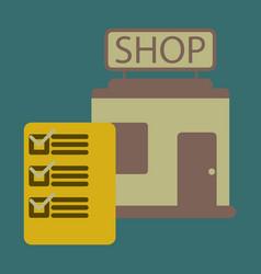 Flat icon shop form vector