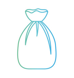 Garbage bag tied in degraded green to blue color vector