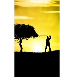 Guy Playing Golf vector image