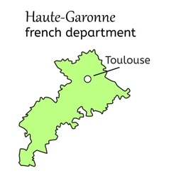 Haute-Garonne french department map vector image