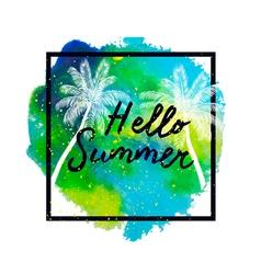 hello summer2 vector image