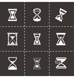 Hourglass icons set vector