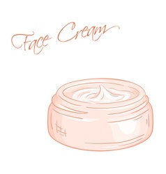 Isolated cream jar vector