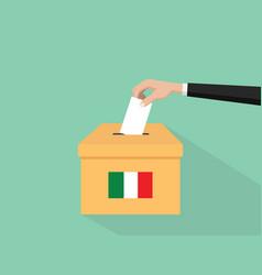 Itlay election vote concept vector