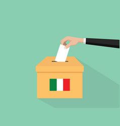 itlay election vote concept with vector image