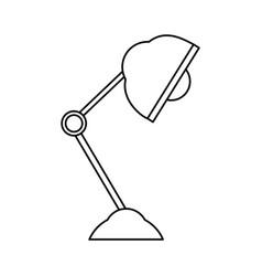Line office light lamp object of the desk vector