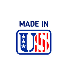made in usa label united states of america stamp vector image
