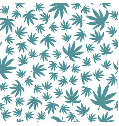 Marijuana leaf backdrop green leaves cannabis vector