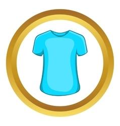 Mens summer t-shirt icon vector image