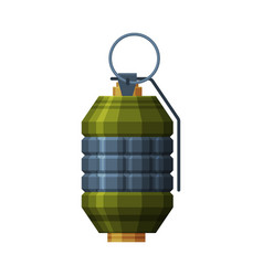 Military hand grenade retro combat weapon object vector