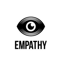 modern professional logo eye empathy on vector image