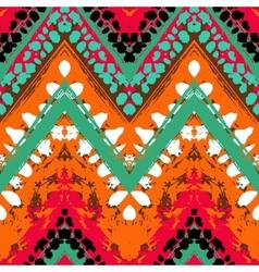 Multicolor hand drawn pattern zigzag vector