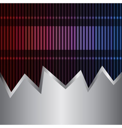 neon and metal background vector image
