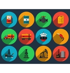 Oil production set vector image