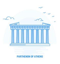 Parthenon athens blue landmark creative vector