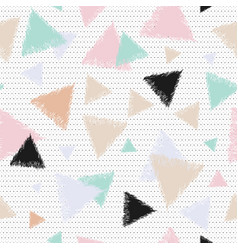 Pastel background with triangles vector