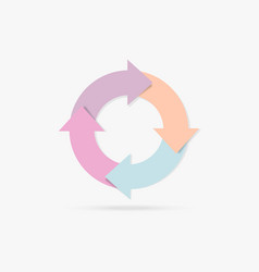 Pastel colorful life cycle infographic content vector