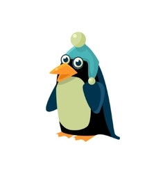 Penguin Wearing Winter Hat vector image