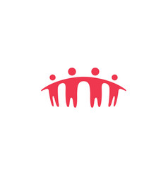 People family together human unity logo icon vector