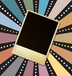 picture frame on retro sunbeam vector image