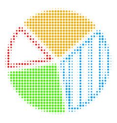 pie chart halftone icon vector image