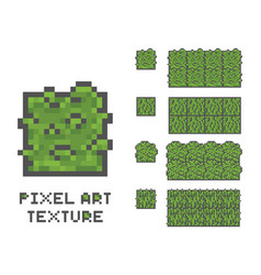 Pixel art 8 bit game sprite green vector
