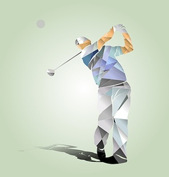 Polygon of a golfer vector image