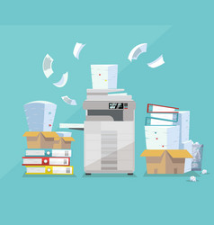 Professional office copier multifunction scanner vector