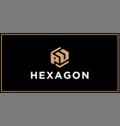 Pu hexagon logo design inspiration vector