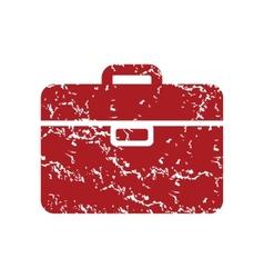 Red grunge bag logo vector
