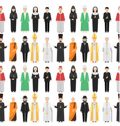 Religion people characters group of vector