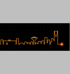 riyadh light streak skyline vector image
