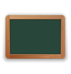 school green blackboard with wooden frame vector image