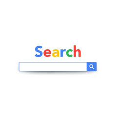 search bar service design search machine engine vector image