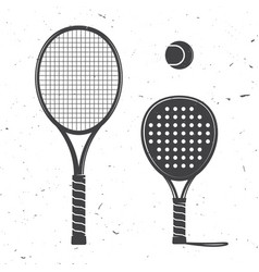 Set of tennis rackets and tennis ball icon vector